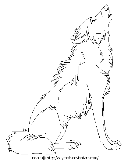 Wolf clipart female wolf. Realistic wolves drawing at