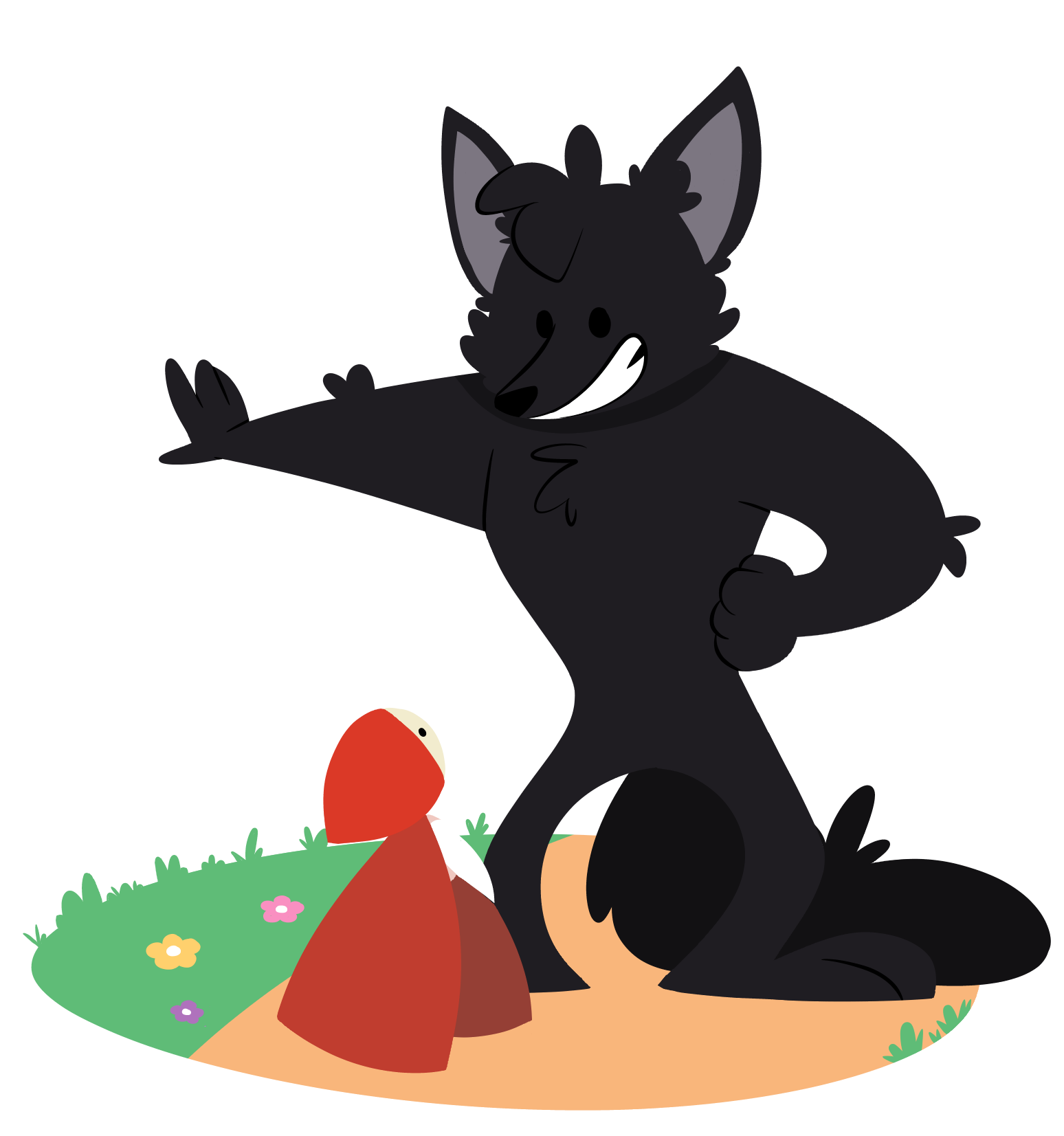 Wolf clipart red riding hood. Clip art free cliparts