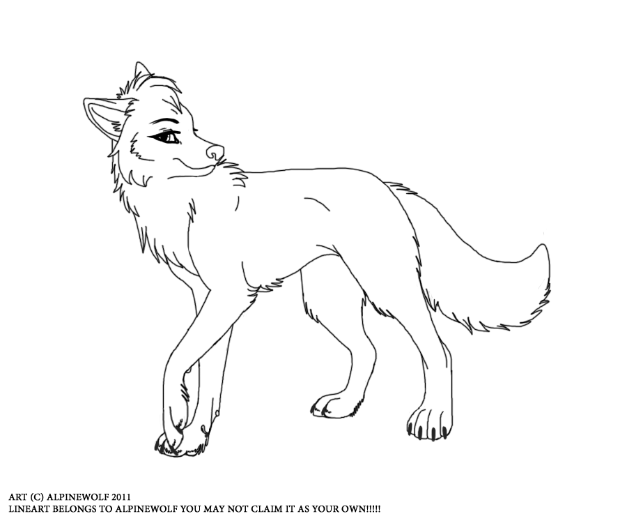 Wolf clipart she wolf. Female drawing at getdrawings