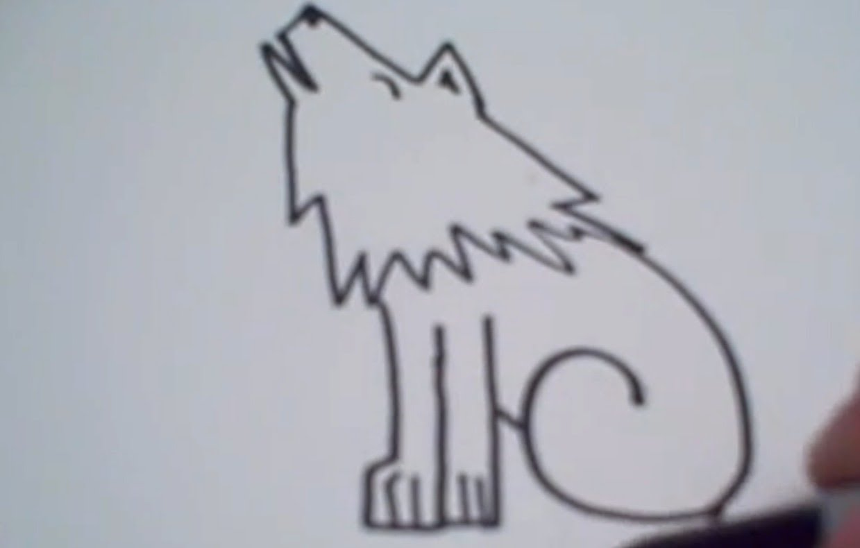 Wolf clipart she wolf. How to draw a