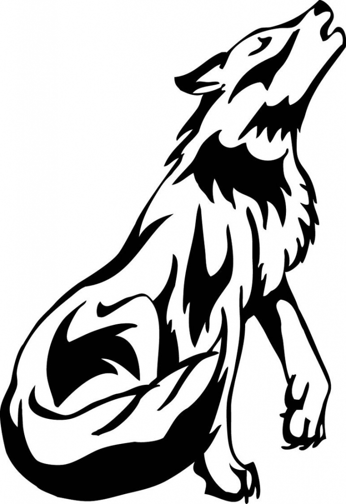 Wolf clipart werewolf. Cute drawings howling clipartfest