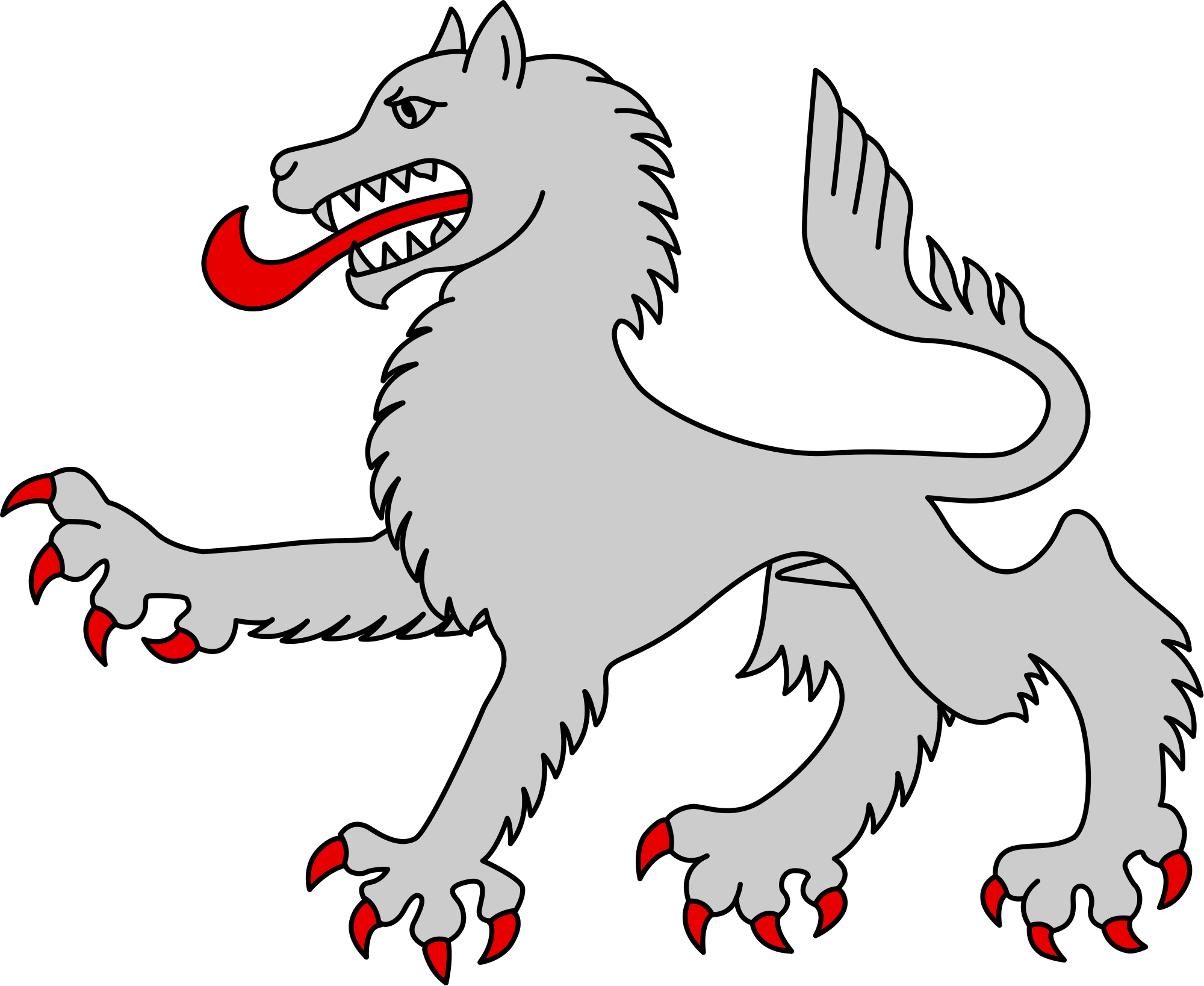 Wolf coat of arms png. File heraldic passant svg