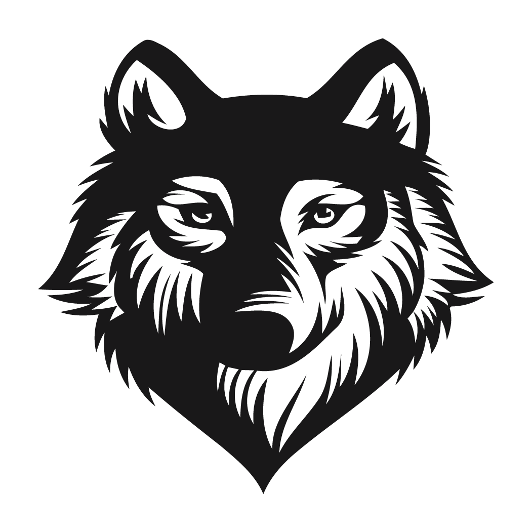 Wolf head png. Logo images decal style