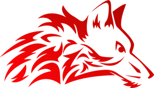 Wolf logo png. Stylish red vector eps