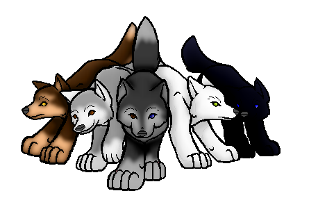 Wolf pack png. Small by kitrei sirto