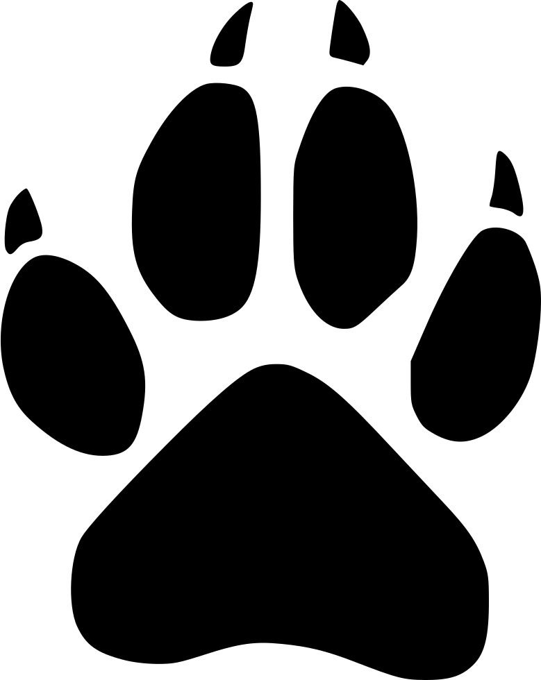 Wolf paw png. Footprint wild svg icon