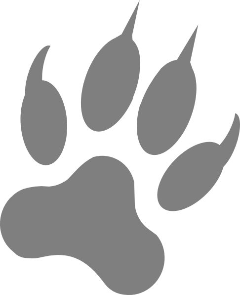 Wolf print png. Clip art at clker