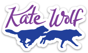 Wolf running png. Kate wolves sticker official