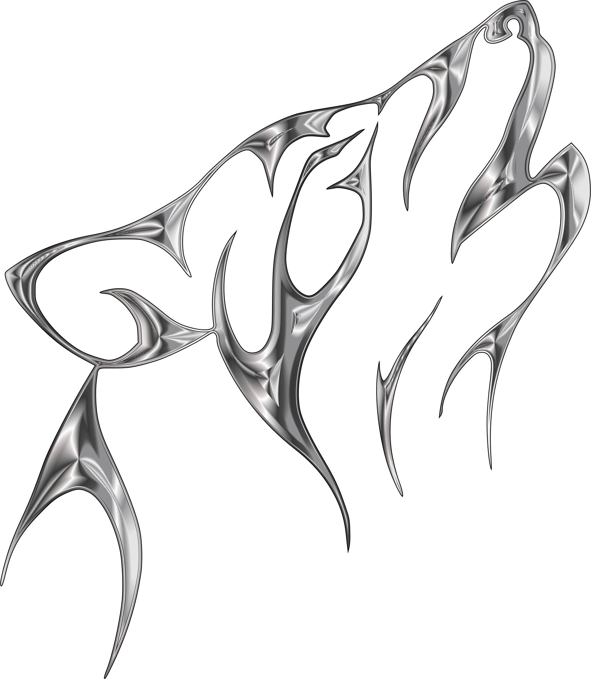 Wolf tribal png. Clipart steel no background