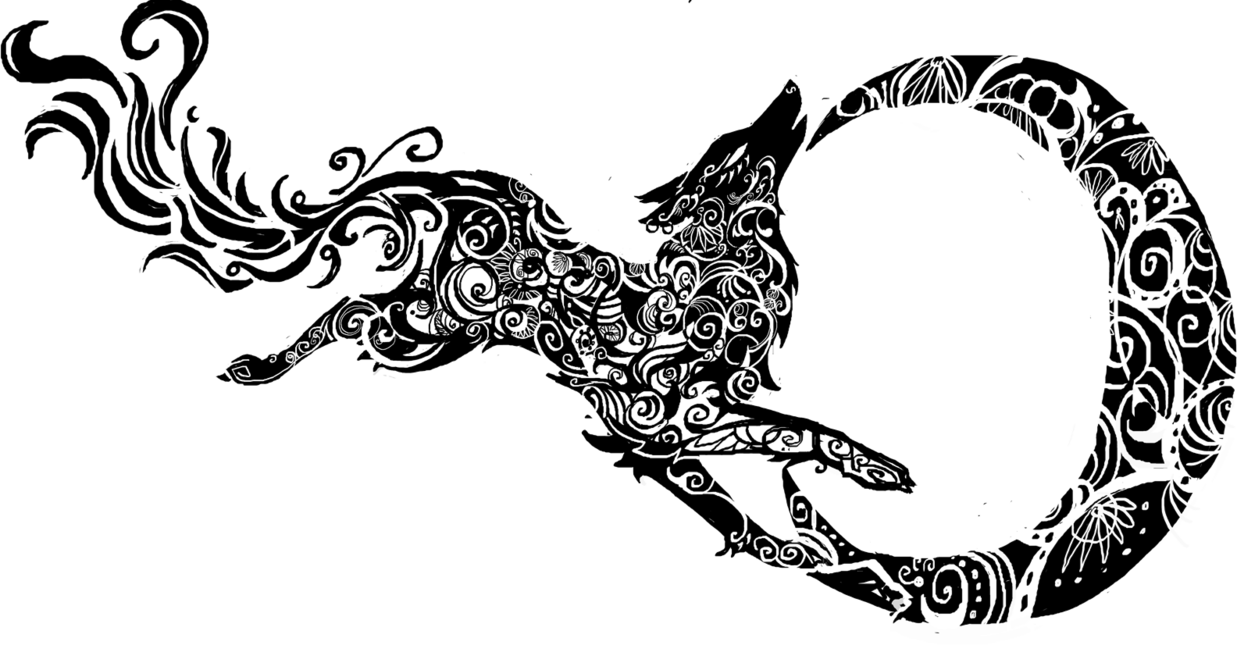 Wolf tribal png. Image desing stuff by