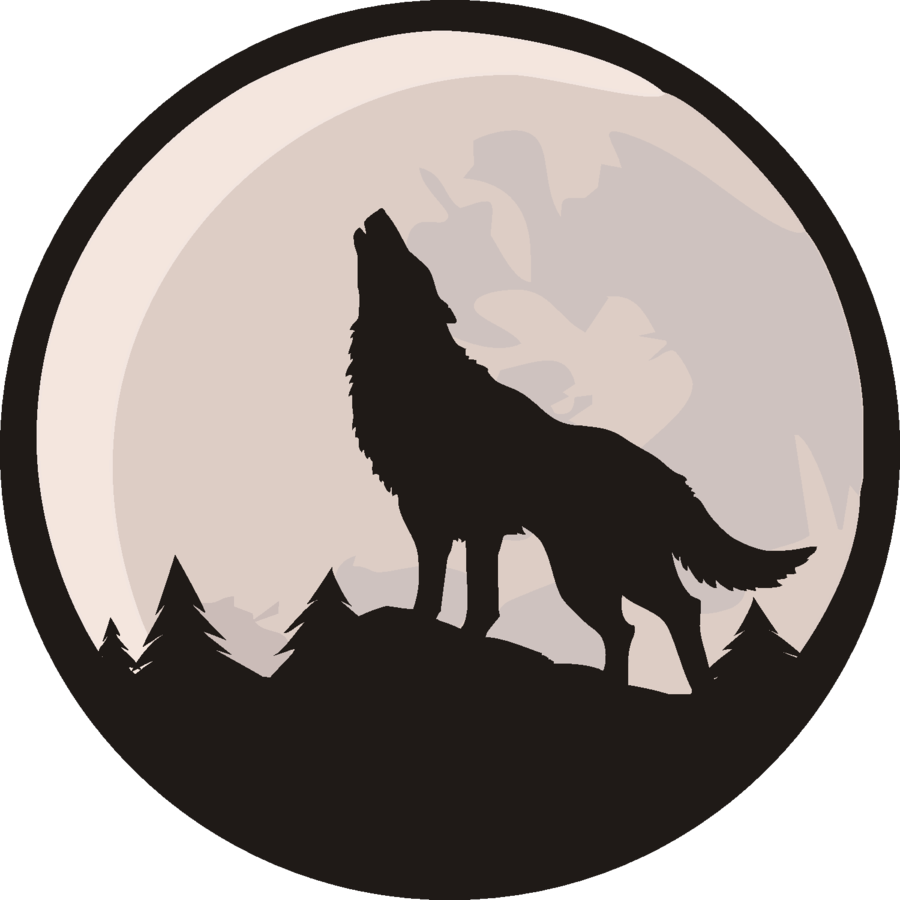 Wolf vector png. By leo chelny on