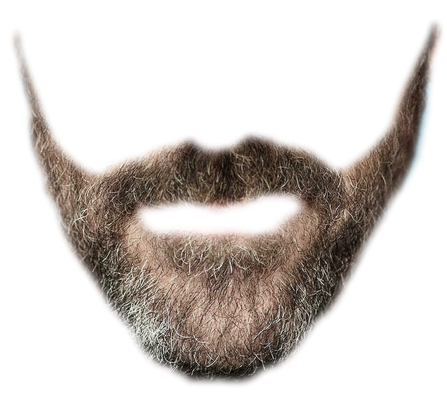 Drawing beard editing. Download png hq image