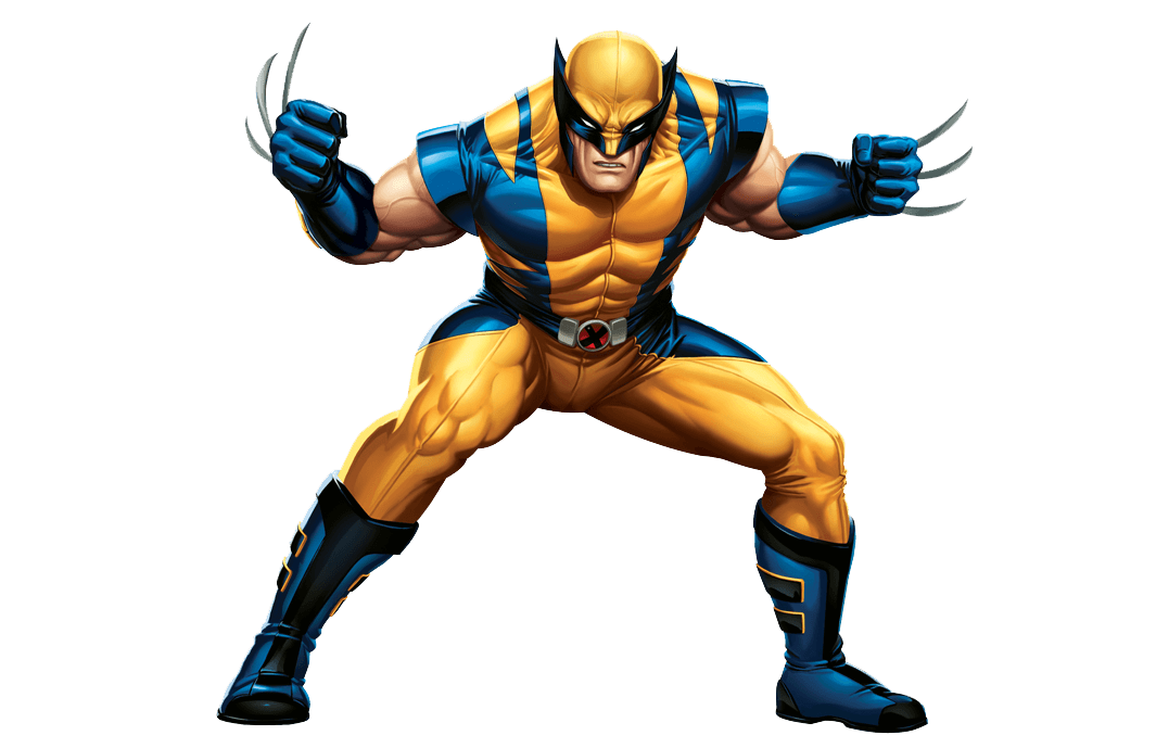 Standing transparent stickpng download. Wolverine png picture