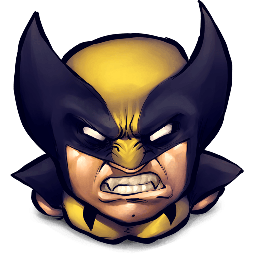 Wolverine icon png. Angry clipart image clip