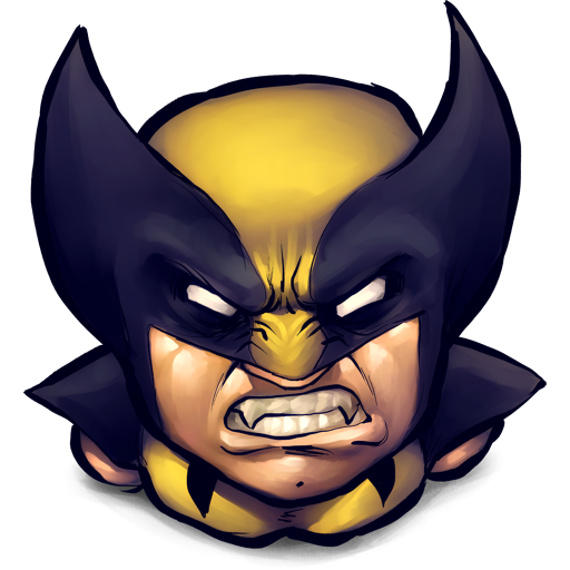 Wolverine icon png. Angry clipart image iconbug