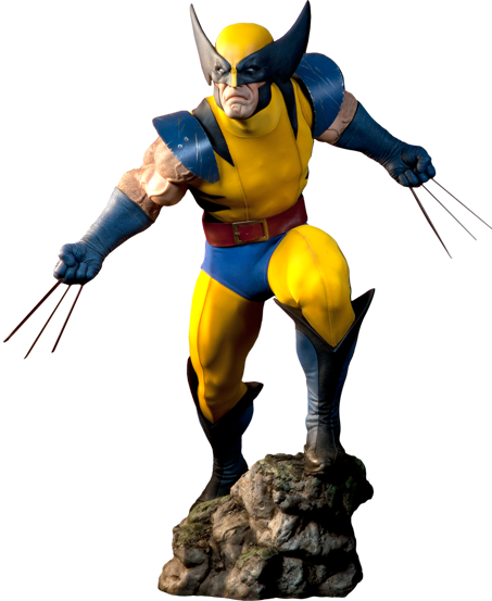 Wolverine yellow suit png. Marvel legendary scale tm