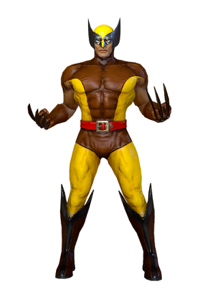 Wolverine yellow suit png. Classic brown costume marvel
