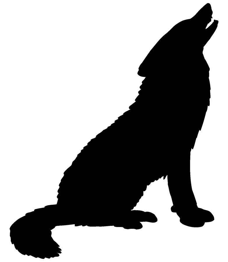 Wolves clipart clear background. Wolf silhouette transparent at