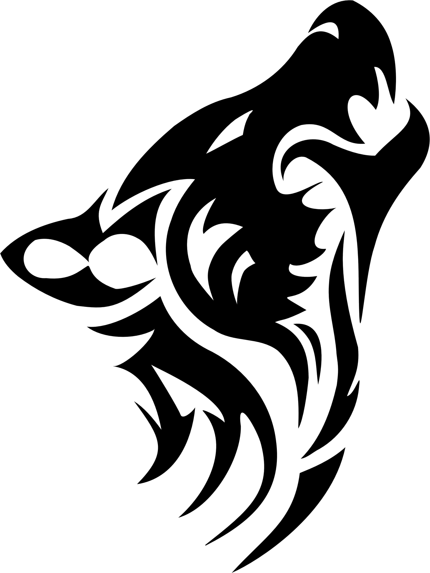 Tribal transparent background. Wolf tattoos png images