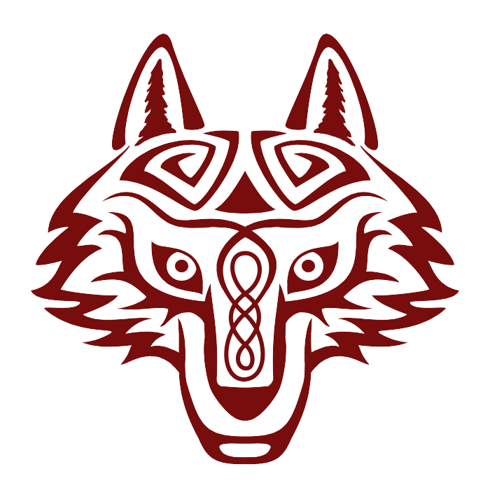Wolves transparent celtic. Image wolf head by