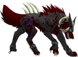 Wolves transparent demonic. Demon wolf pose by