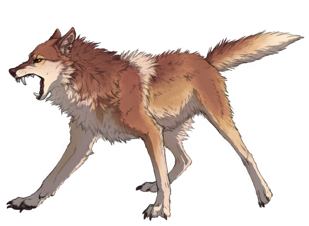 Wolves transparent digital art. Pi commission by canis