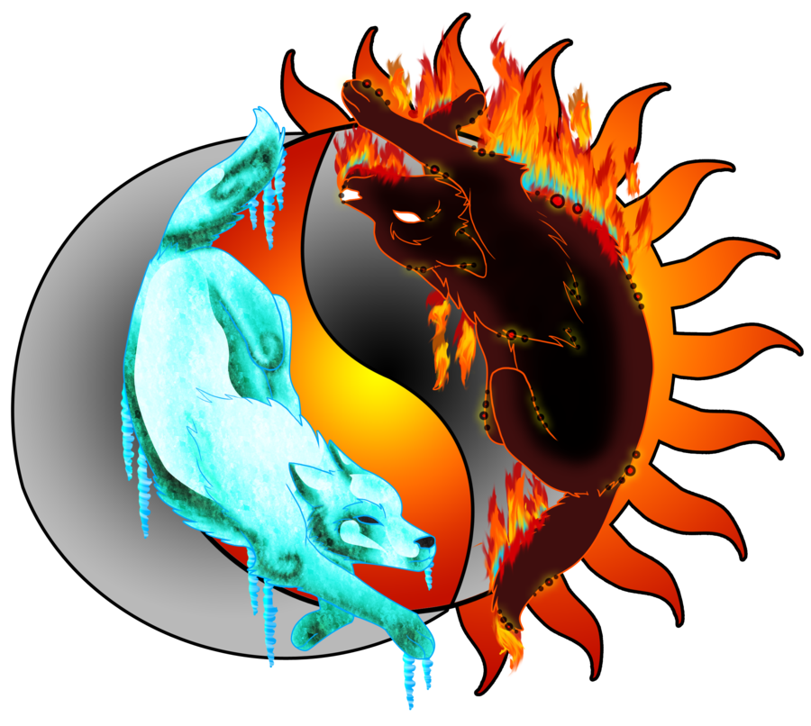 Wolves transparent fire. Ice and pinterest
