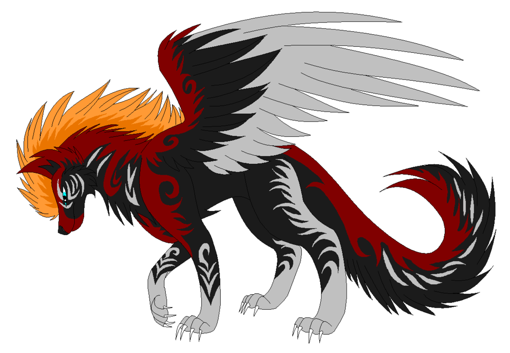 Wolves transparent fire. Adoptible for wolfhome by