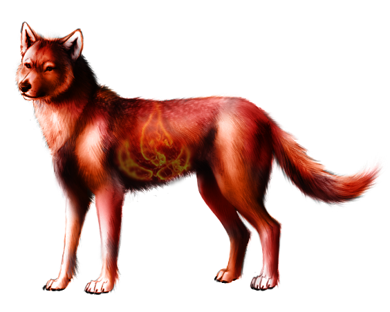 Wolves transparent fire. Wolf revisited by sitva