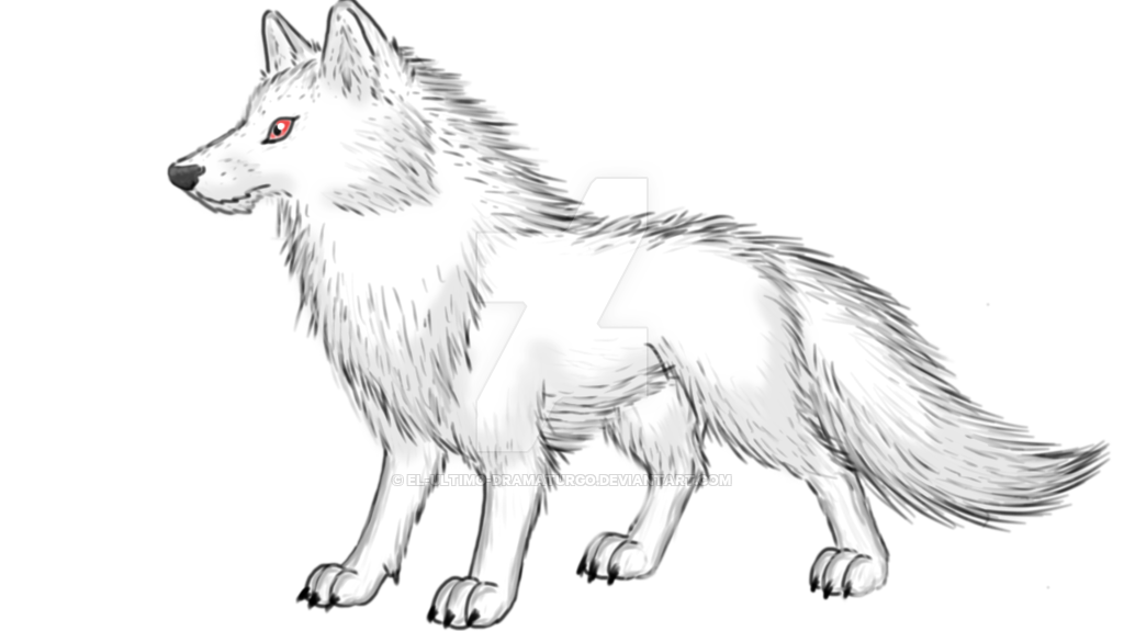 Wolves transparent ghost. The white direwolf got