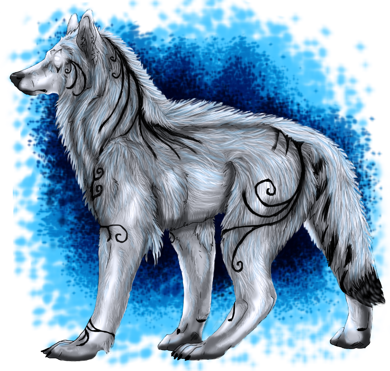 Wolves transparent ghost. Of sister wolf by