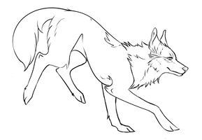 Wolves transparent lineart. Free wolf psd by