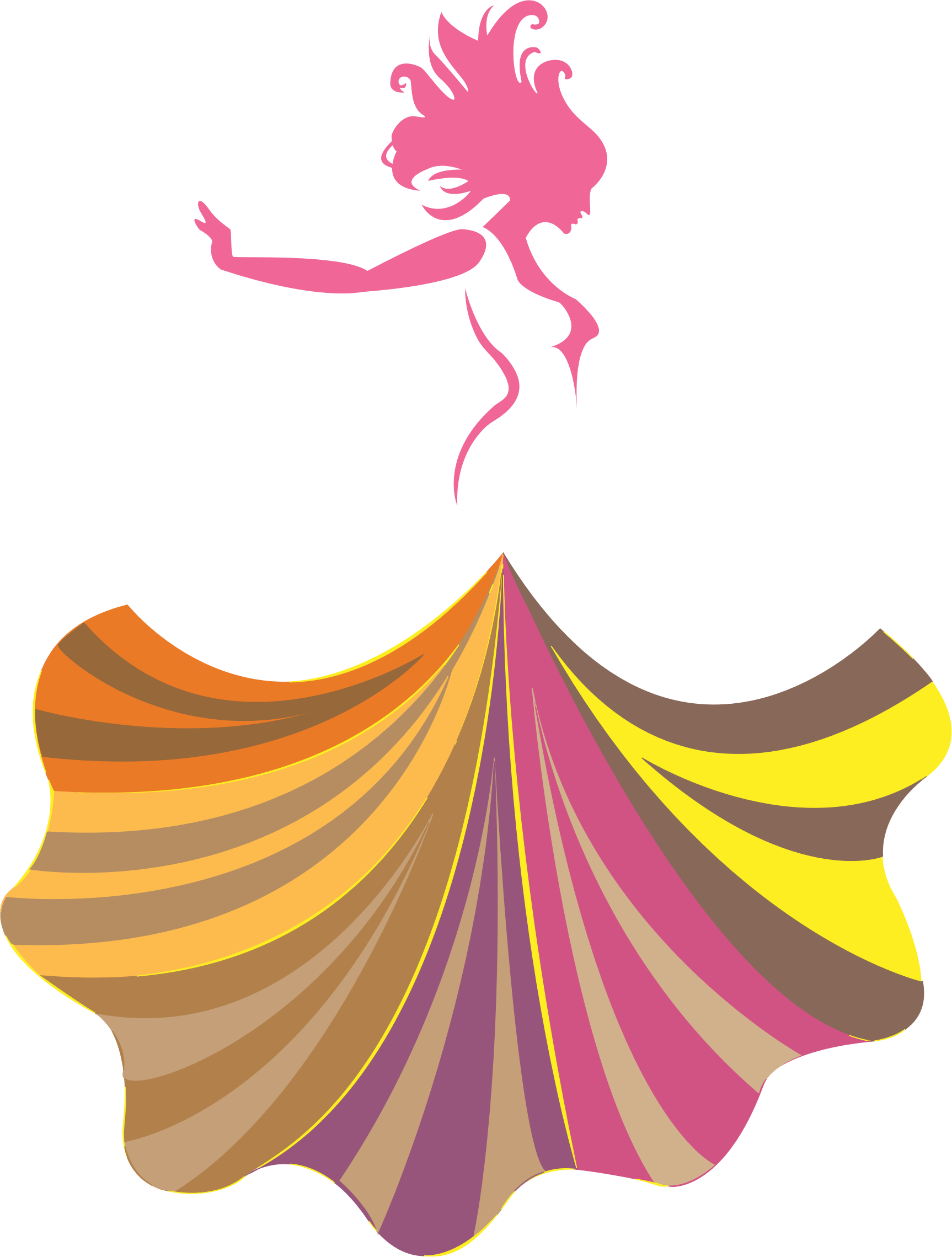 Woman clipart abstract. In a dress big