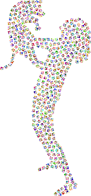 Woman clipart abstract. Friendship art affection free