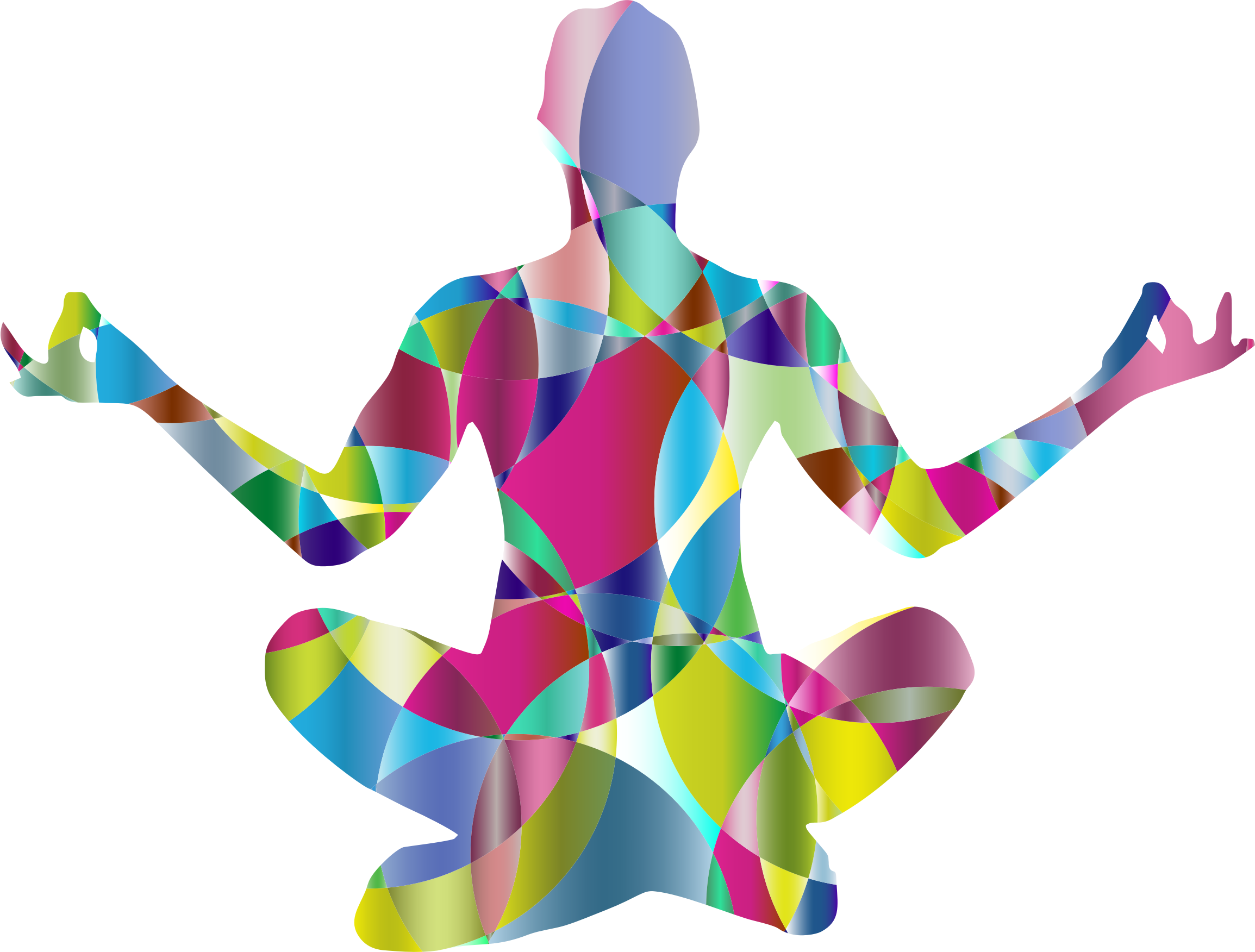 Woman clipart abstract. Prismatic female yoga pose
