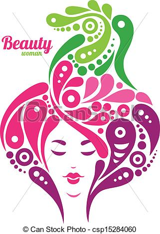 Woman clipart abstract. Beautiful silhouette tattoo of clip black and white download