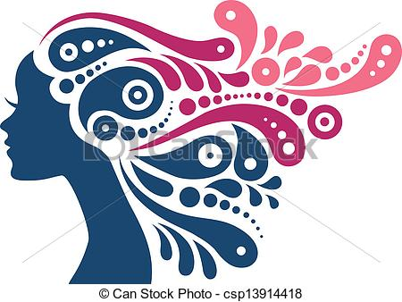 Woman clipart abstract. Beautiful silhouette tattoo of picture free download