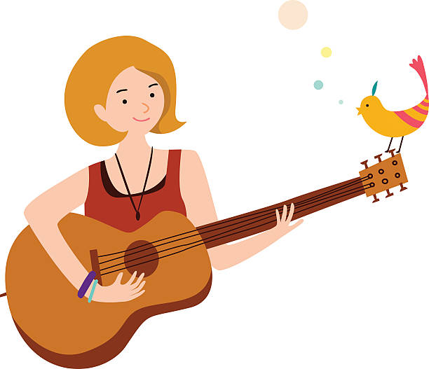 Woman clipart guitar. Bass at getdrawings com