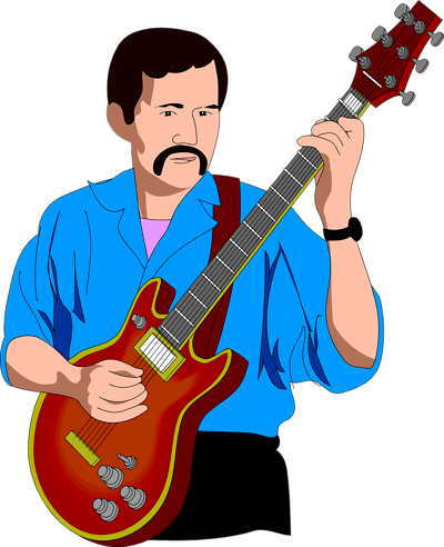 Woman clipart guitar. Free playing images download