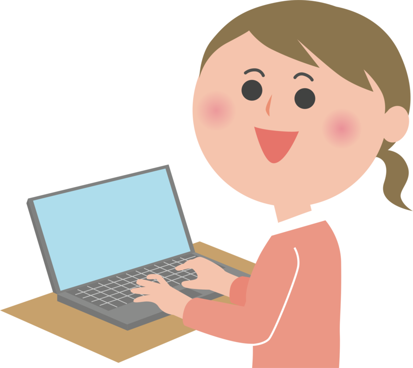 Woman clipart laptop. Personal computer microsoft tablet
