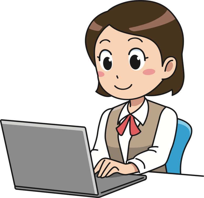 Woman clipart laptop. Computer user girl free
