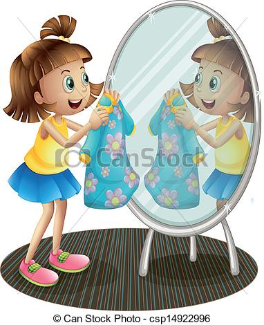 Woman clipart mirror. A girl looking at free