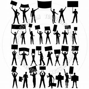 Cliparthut free protesters panda. Woman clipart protest picture black and white library