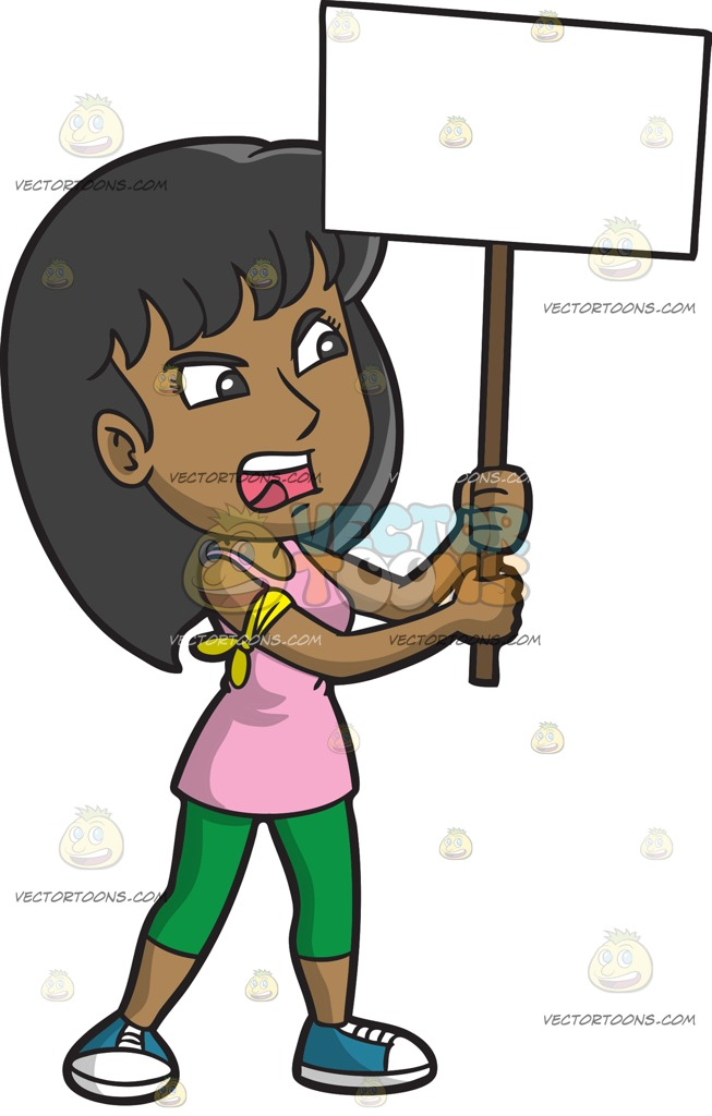 Woman clipart protest. A livid in cartoon clipart library