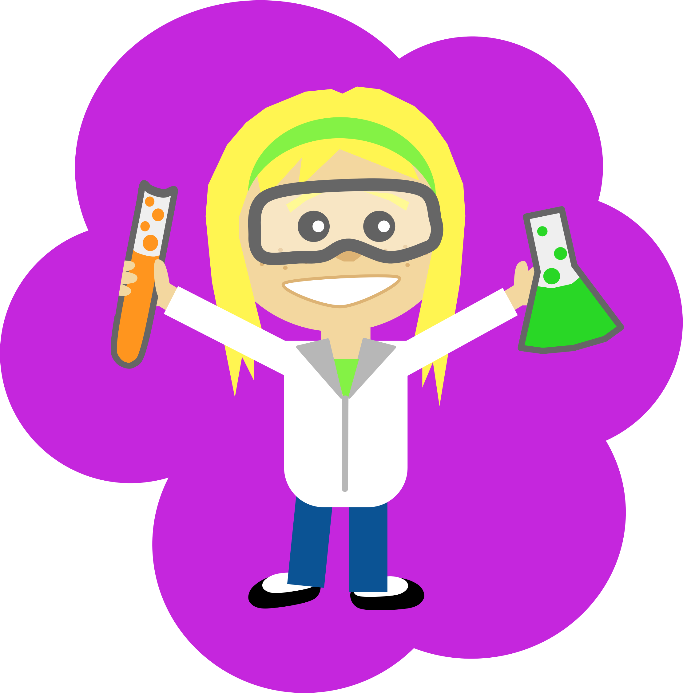 Woman clipart science. Girl big image png
