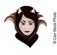 Stylisation vector graphics eps. Woman clipart villain vector black and white download