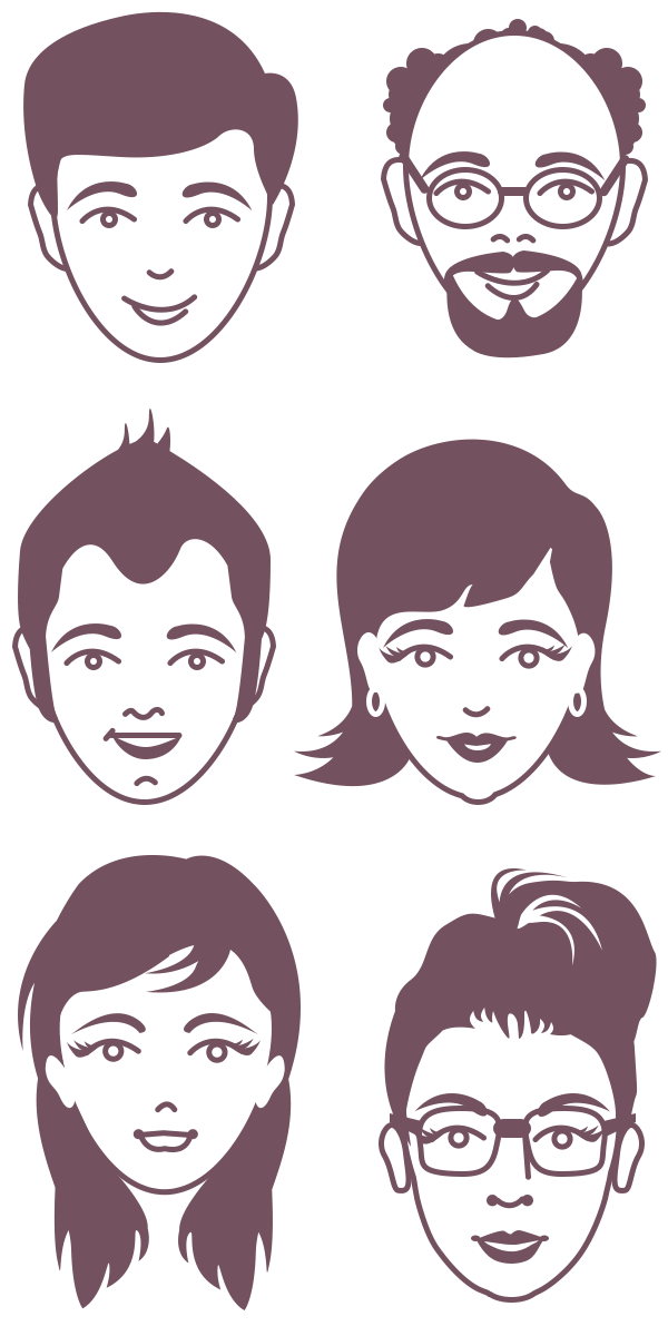 Vector avatars hair