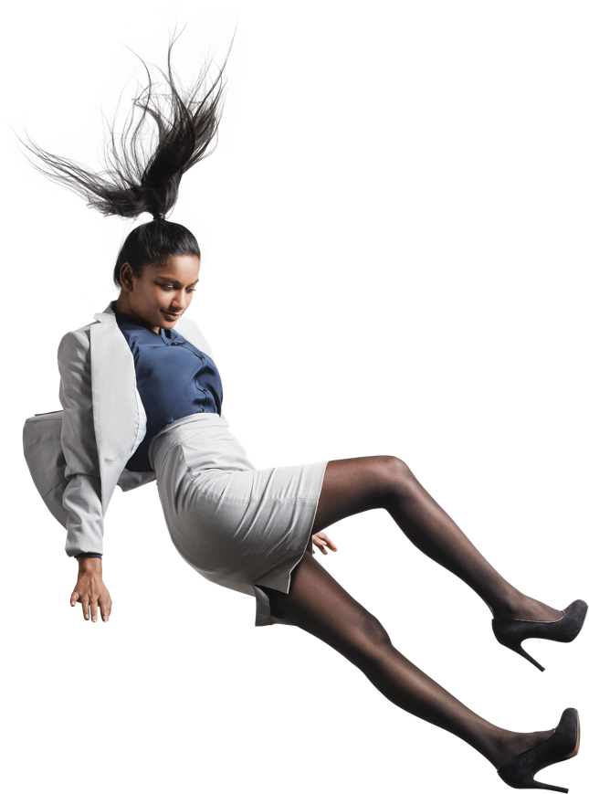 Woman falling png. Per working for indian