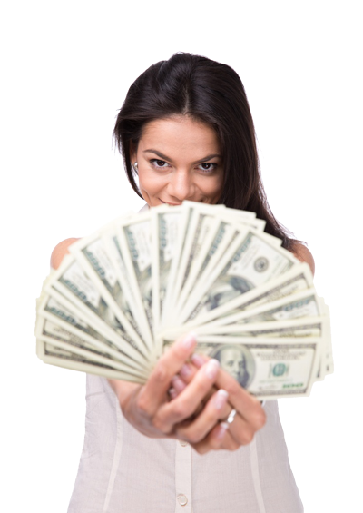 Woman holding money png. Amy crothers google elite