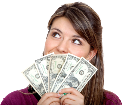 Woman holding money png. Wizard staff image next